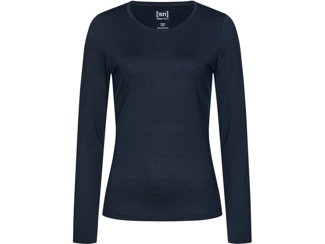 super.natural Base 230 Crew Neck Shirt Women, navy blazer